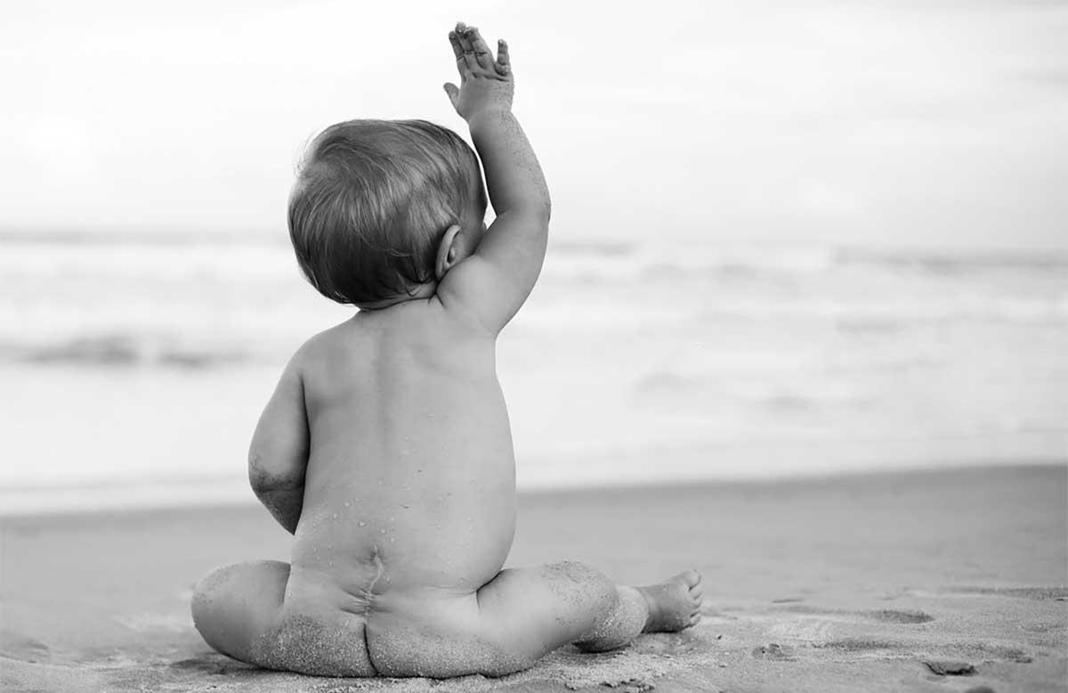 δισχιδής ράχη μωρό
